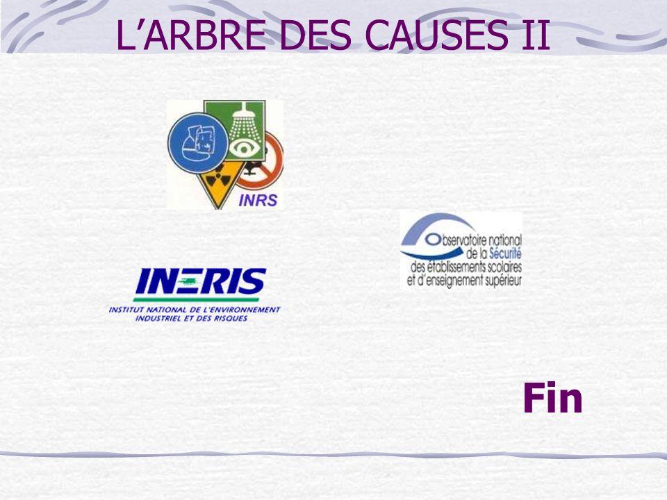 L'ARBRE DES CAUSES II Fin