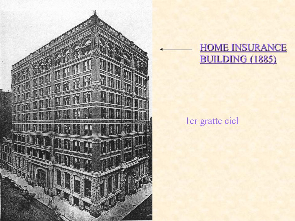 HOME INSURANCE BUILDING (1885)