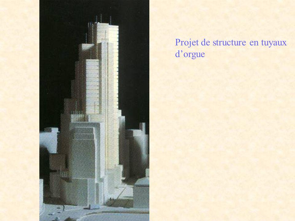 Projet de structure en tuyaux d'orgue