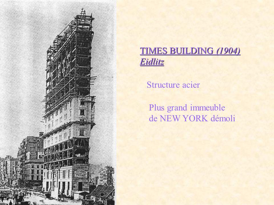 TIMES BUILDING (1904) Eidlitz