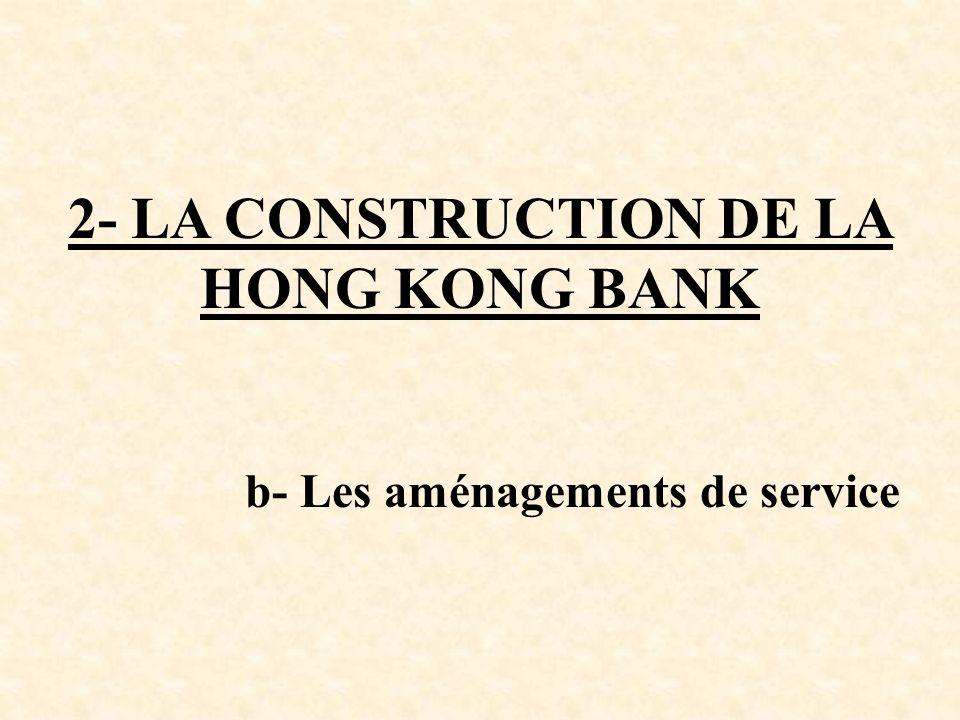 2- LA CONSTRUCTION DE LA HONG KONG BANK b- Les aménagements de service