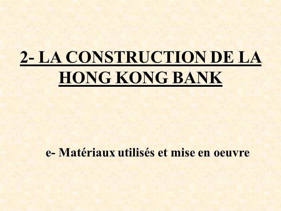 2- LA CONSTRUCTION DE LA HONG KONG BANK