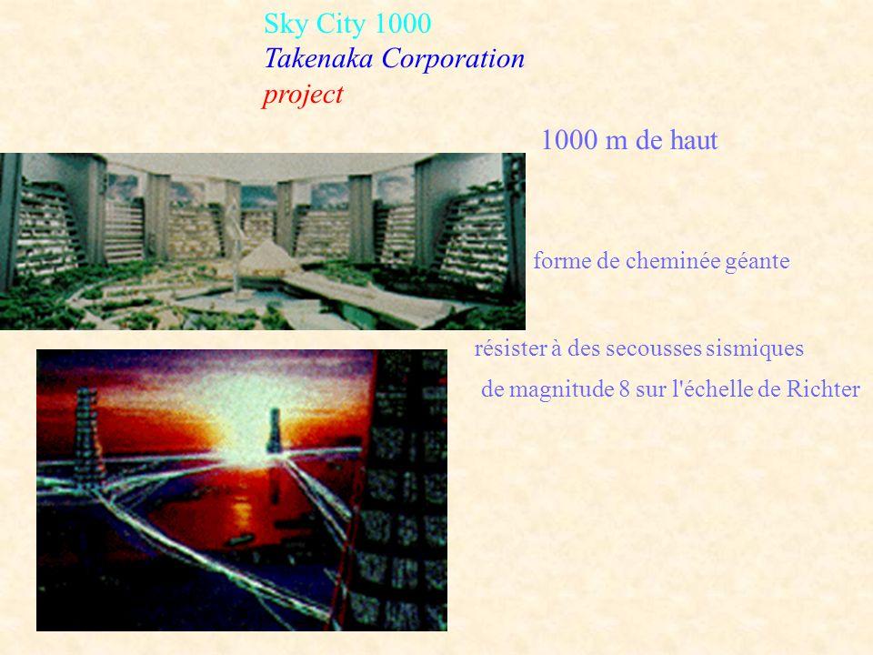 Sky City 1000 Takenaka Corporation project 1000 m de haut