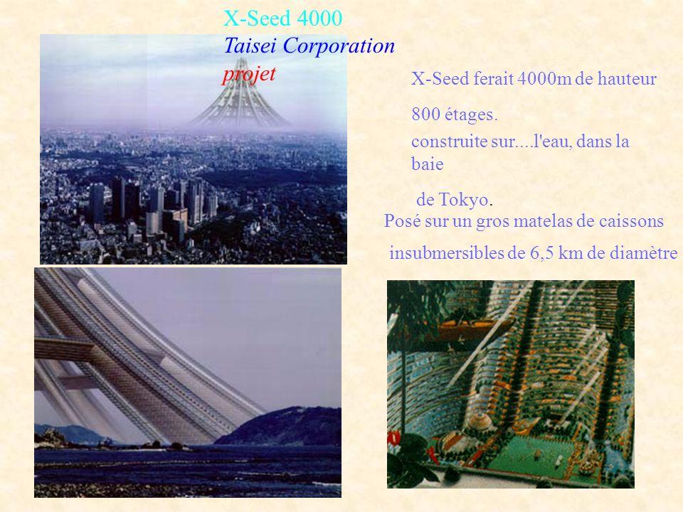 X-Seed 4000 Taisei Corporation projet X-Seed ferait 4000m de hauteur