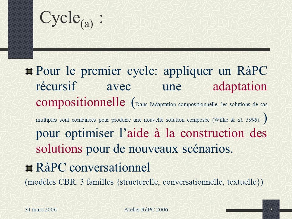 Cycle(a) :
