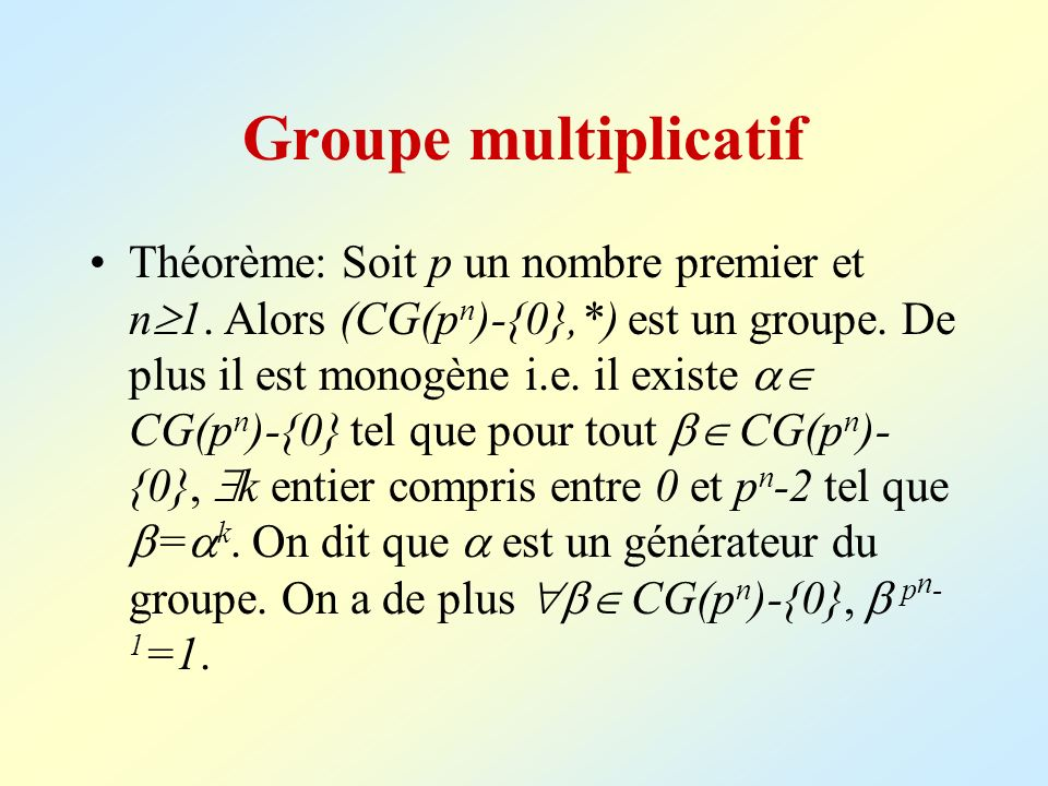 Groupe multiplicatif