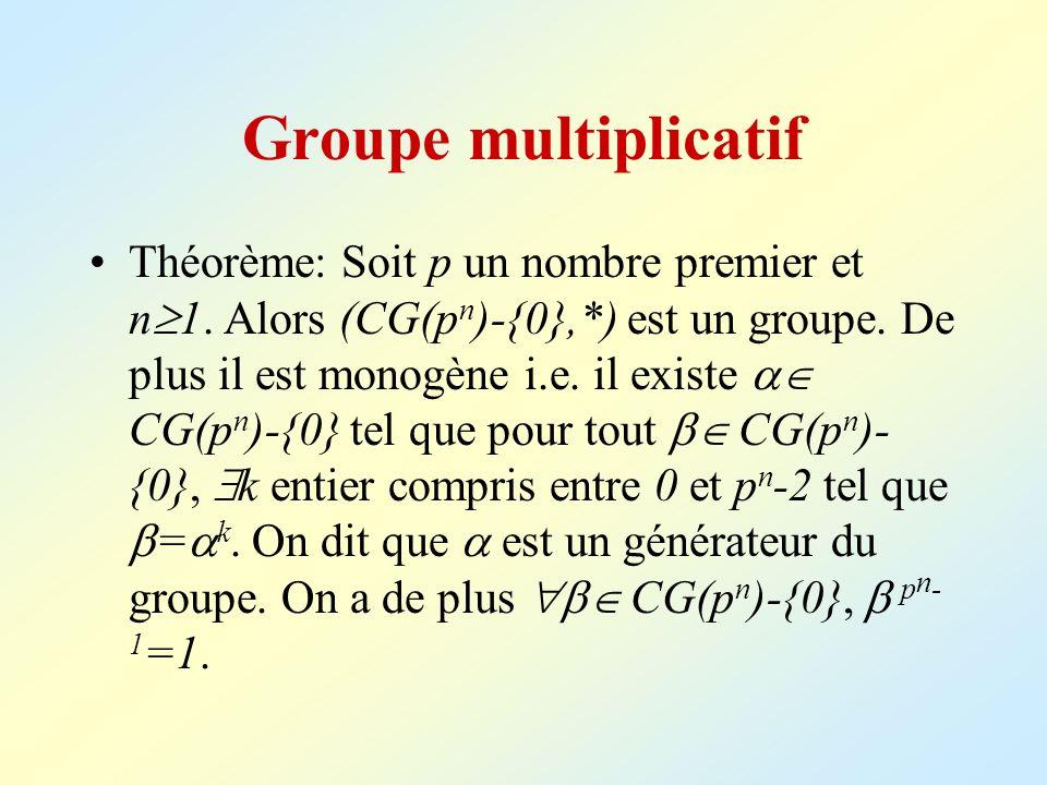 Groupe multiplicatif