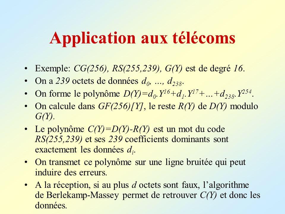 Application aux télécoms