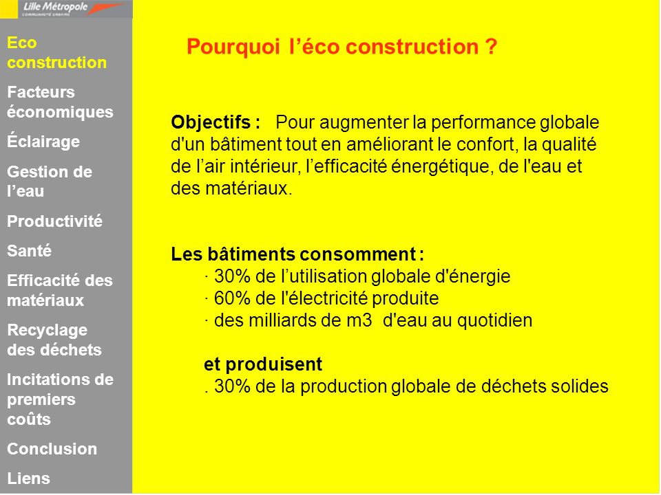 Pourquoi l'éco construction