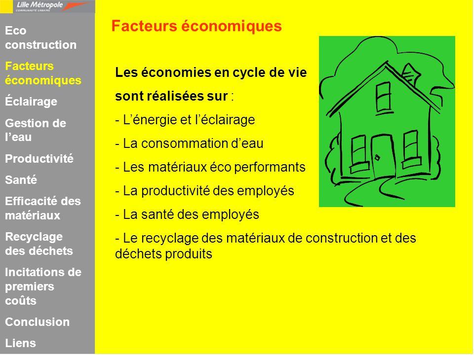 Facteurs économiques Les économies en cycle de vie
