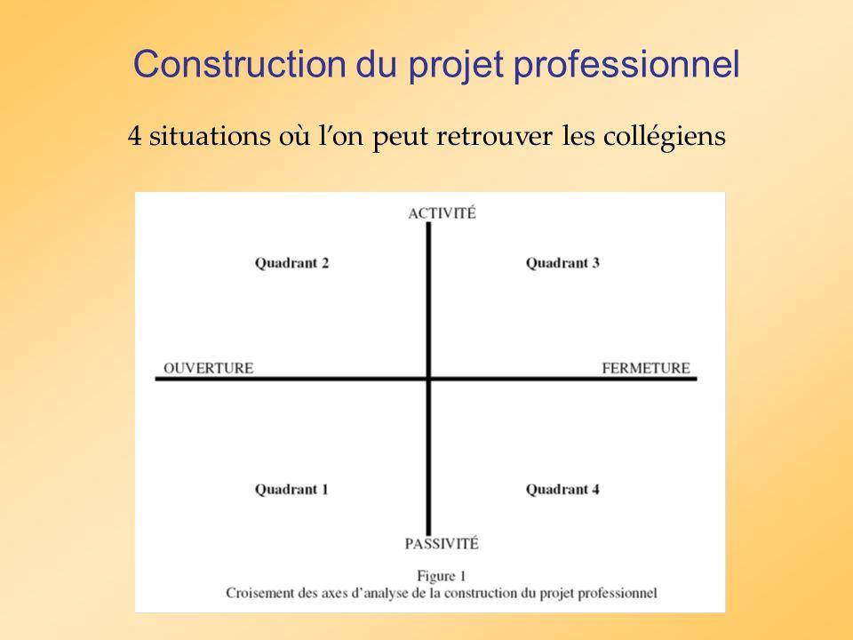 Construction du projet professionnel