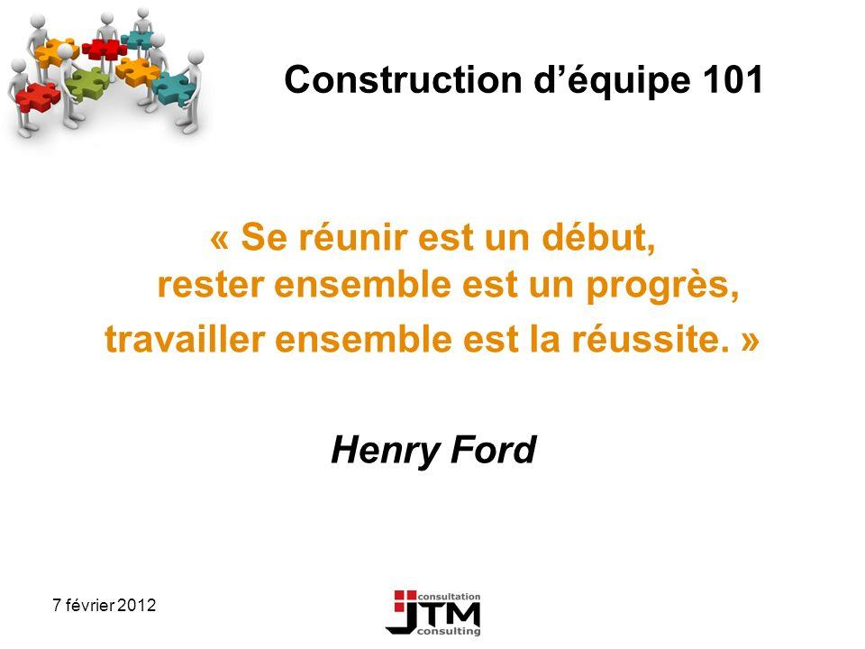 Construction d'équipe 101