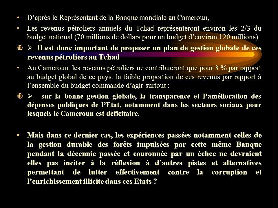 D'après le Représentant de la Banque mondiale au Cameroun,