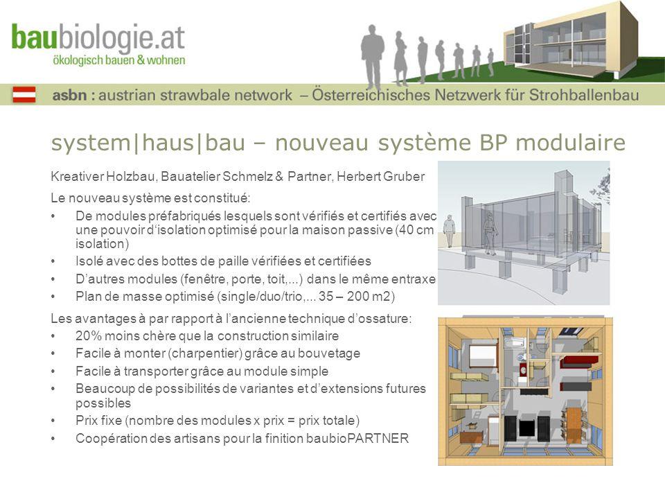 system|haus|bau – nouveau système BP modulaire