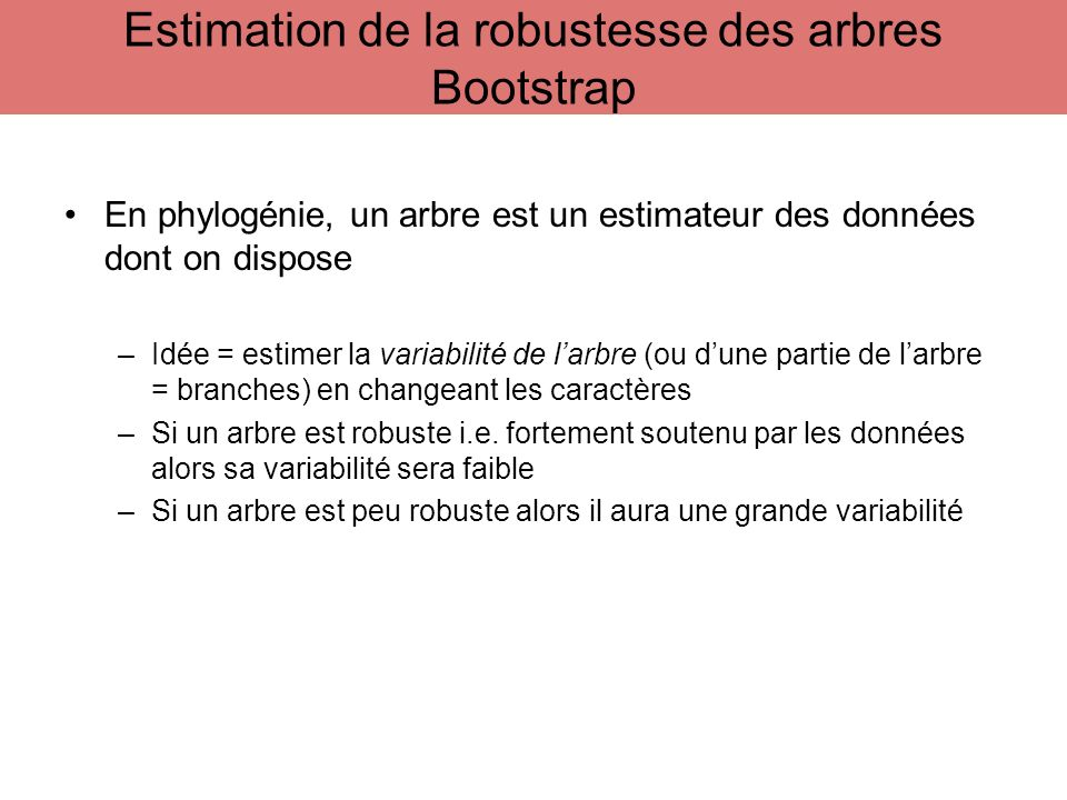 Estimation de la robustesse des arbres