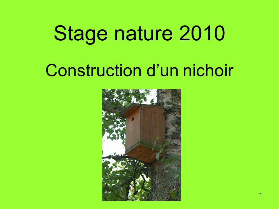 Construction d'un nichoir