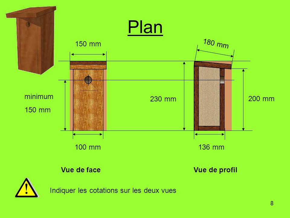 Plan 150 mm 180 mm minimum 150 mm 230 mm 200 mm 100 mm 136 mm