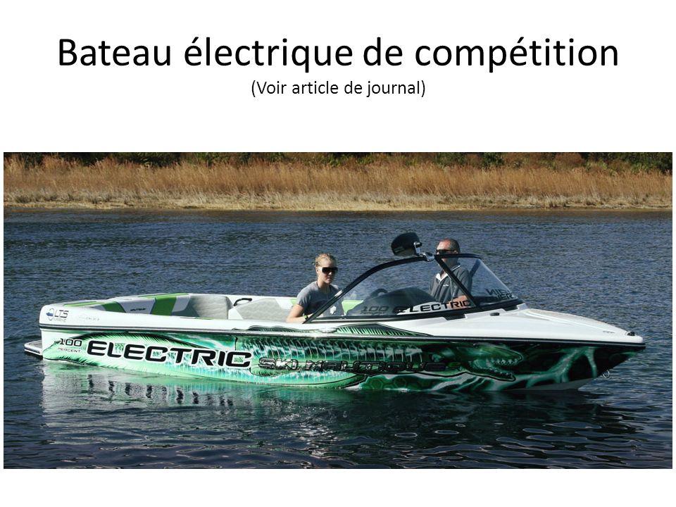 Bateau électrique de compétition (Voir article de journal)