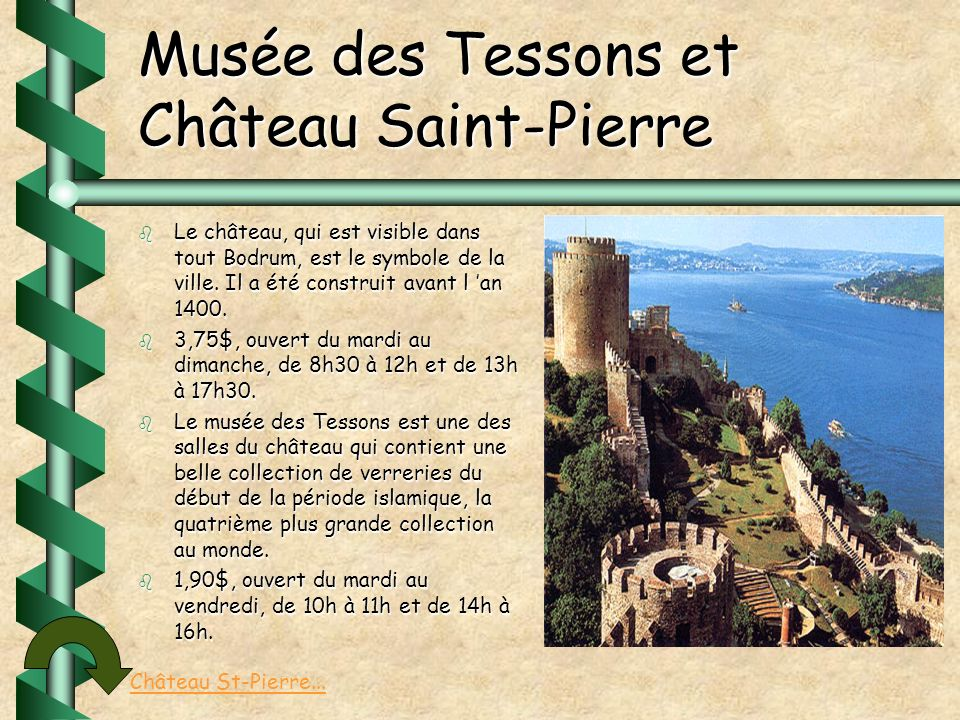 Musée des Tessons et Château Saint-Pierre