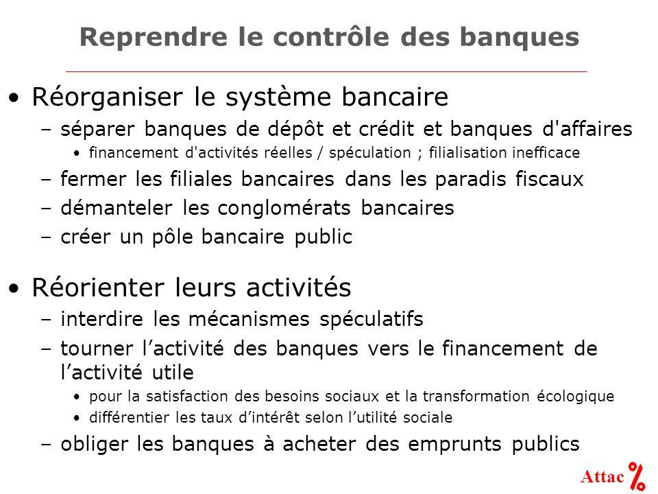 Reprendre le contrôle des banques