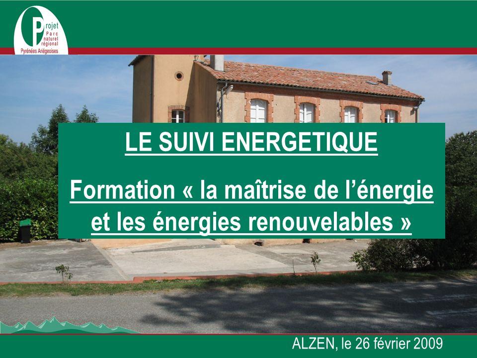 Formation « la maîtrise de l'énergie et les énergies renouvelables »