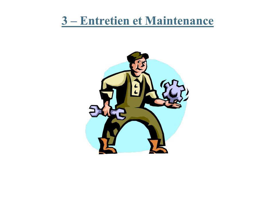 3 – Entretien et Maintenance