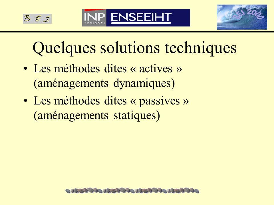 Quelques solutions techniques