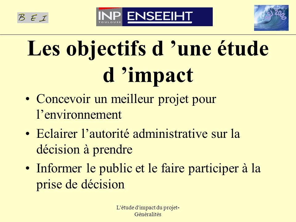 Les objectifs d 'une étude d 'impact