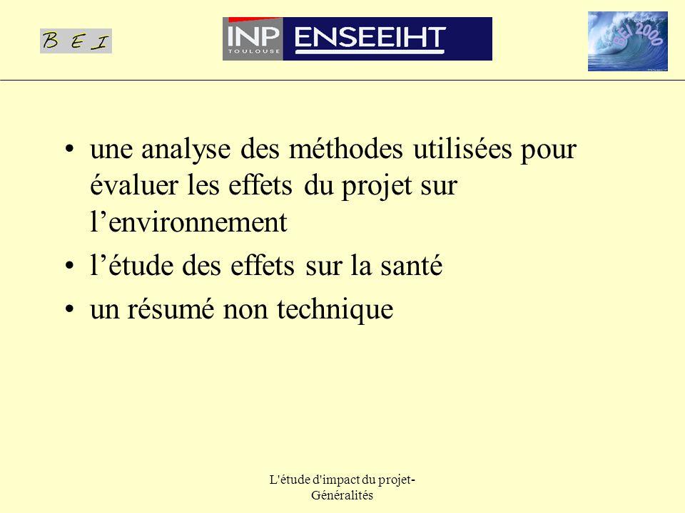 L étude d impact du projet-Généralités