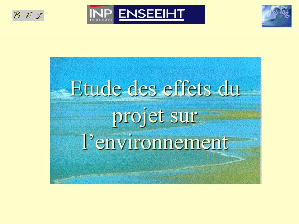 Etude des effets du projet sur l'environnement