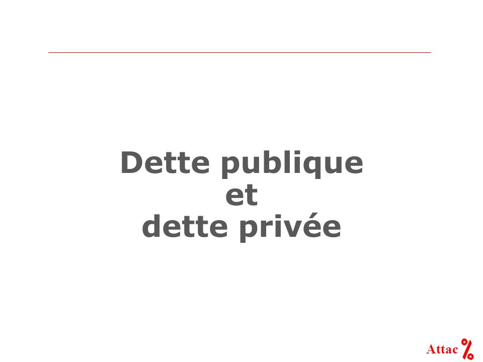 Dette publique et dette privée