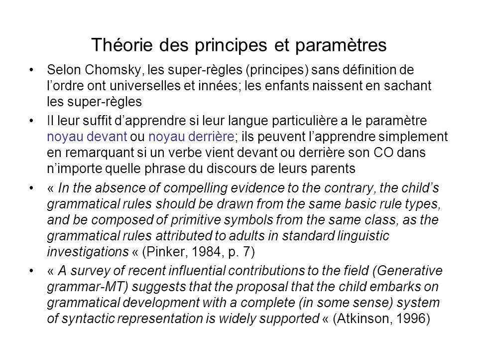 Théorie des principes et paramètres