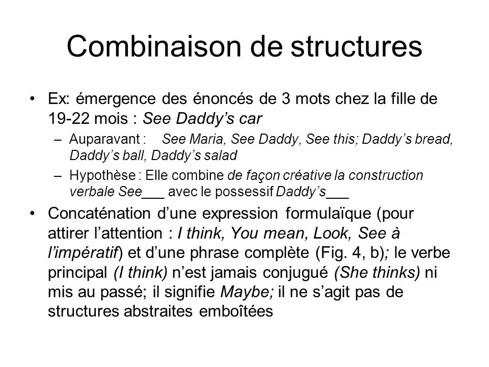 Combinaison de structures