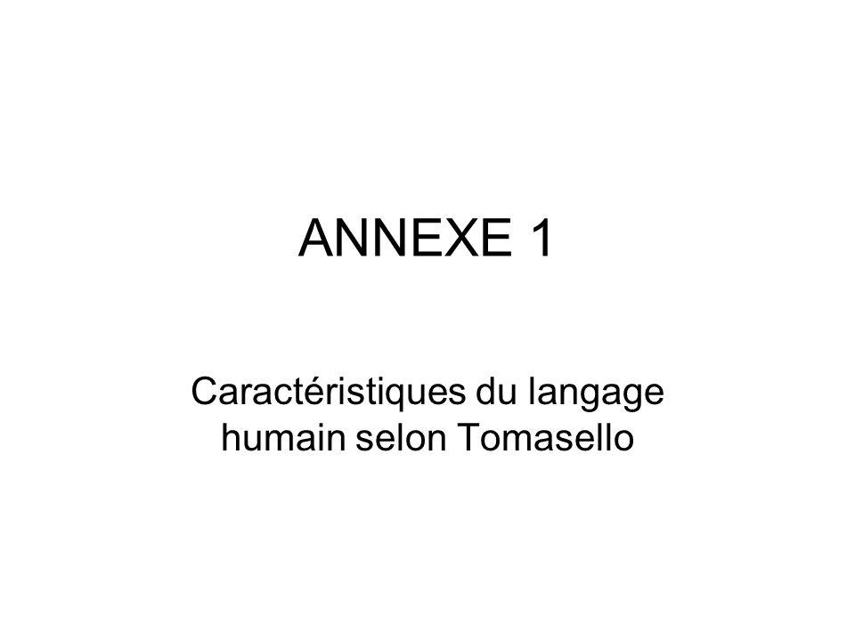 Caractéristiques du langage humain selon Tomasello