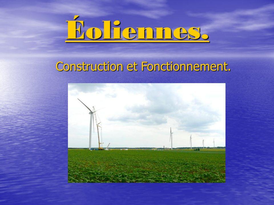 Éoliennes. Construction et Fonctionnement.