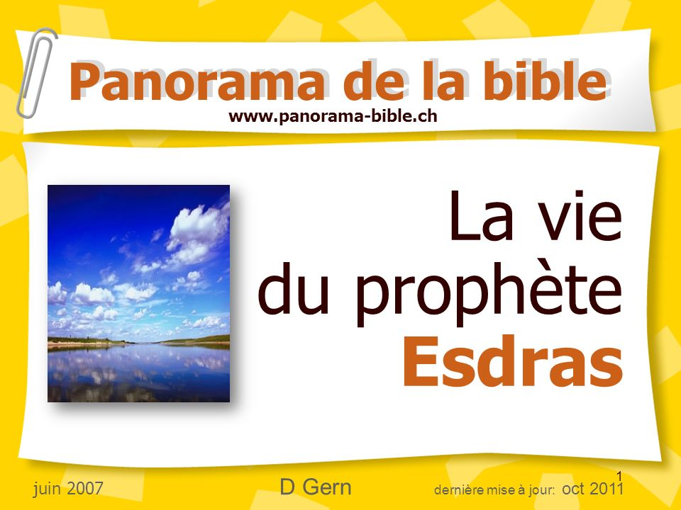 La vie du prophète Esdras