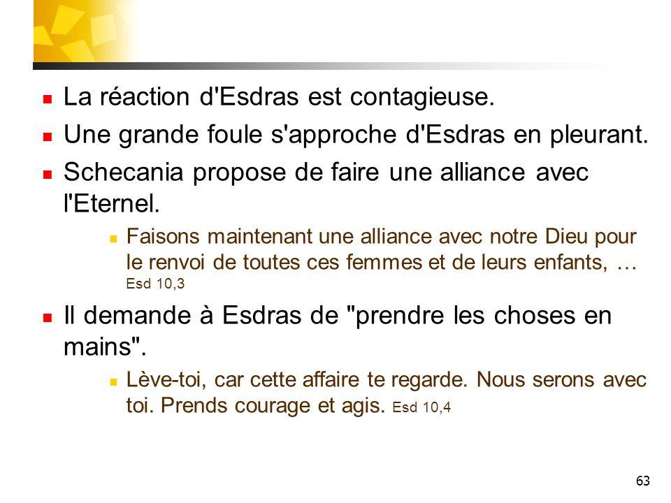 La réaction d Esdras est contagieuse.