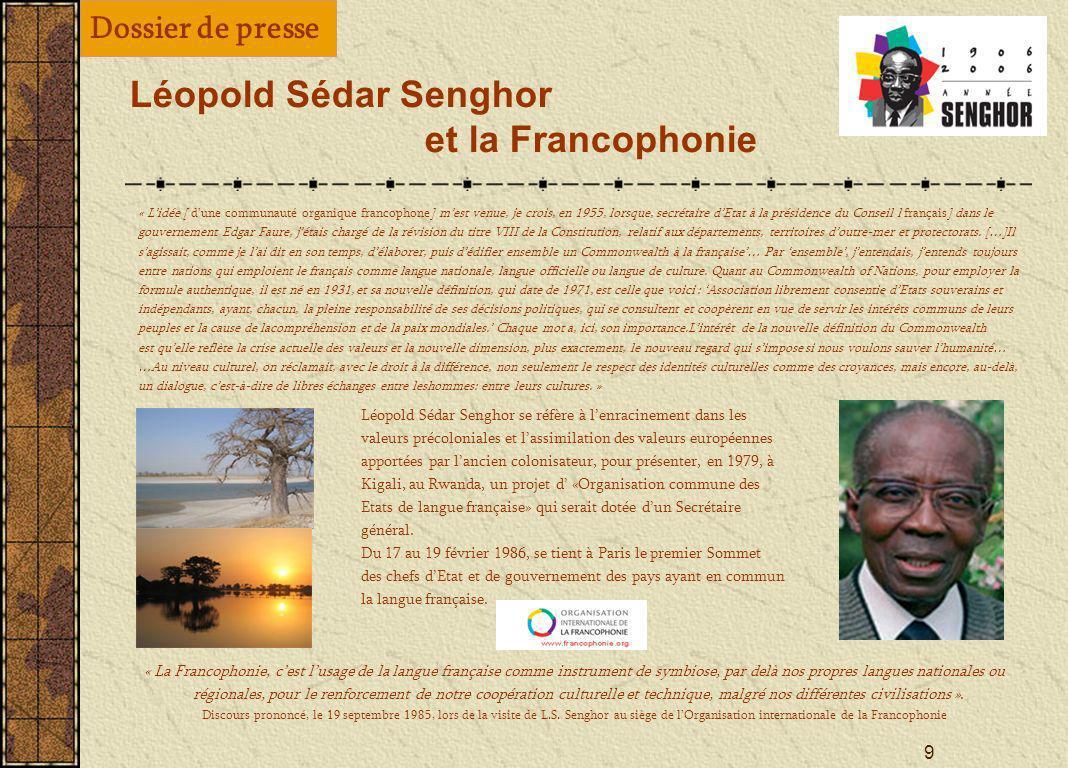Léopold Sédar Senghor et la Francophonie