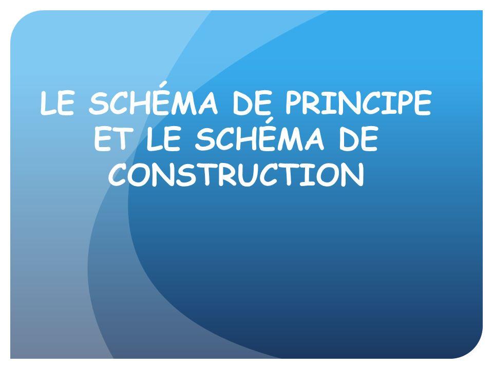 LE SCHÉMA DE PRINCIPE ET LE SCHÉMA DE CONSTRUCTION