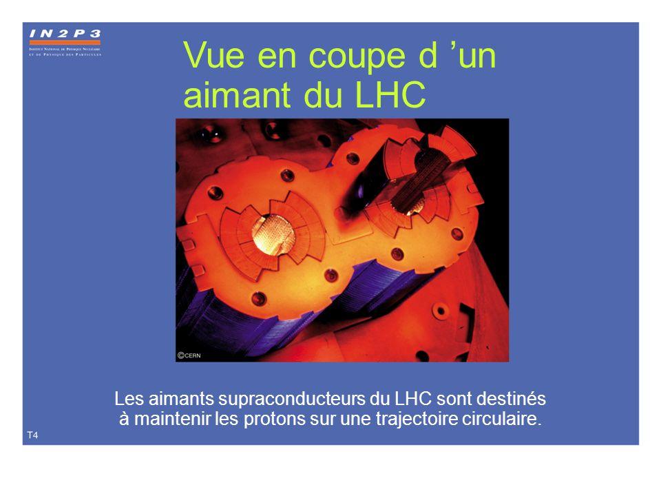 Vue en coupe d 'un aimant du LHC