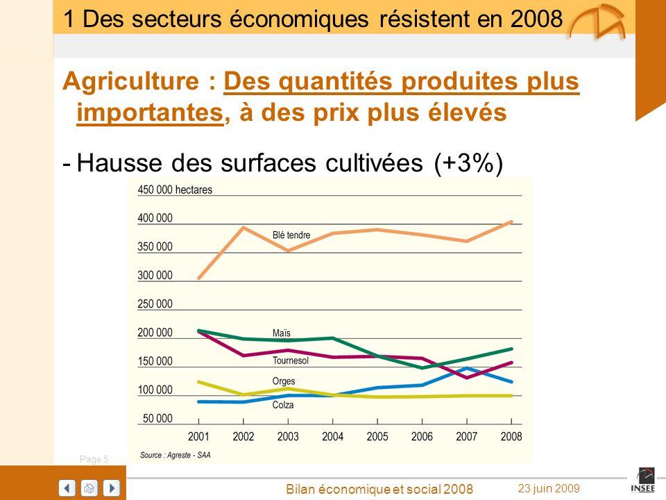 Hausse des surfaces cultivées (+3%)