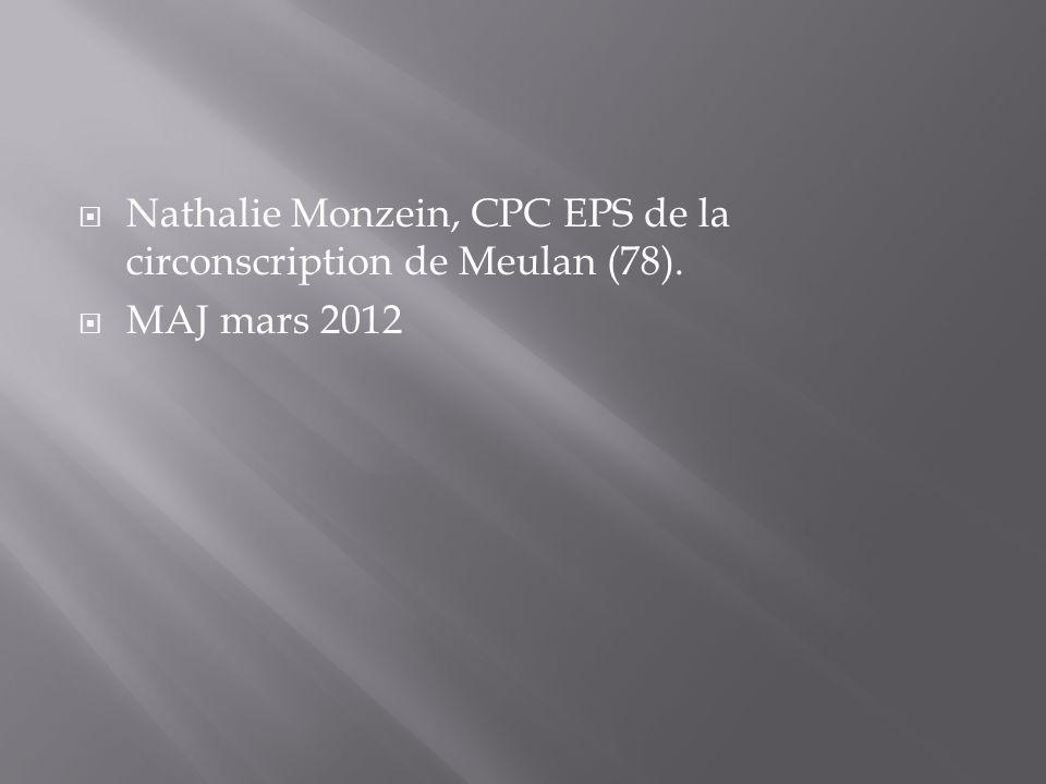 Nathalie Monzein, CPC EPS de la circonscription de Meulan (78).