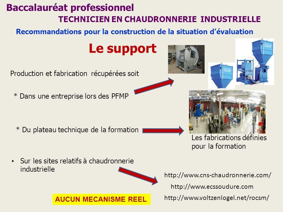 Le support Baccalauréat professionnel
