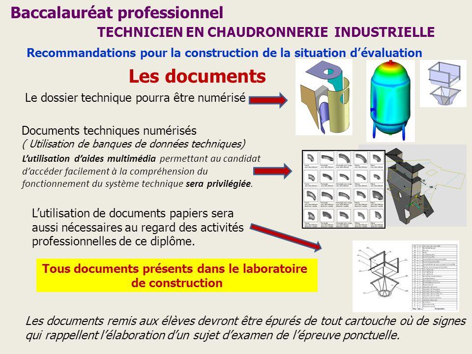 Tous documents présents dans le laboratoire