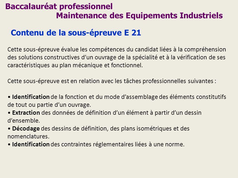 Baccalauréat professionnel Maintenance des Equipements Industriels