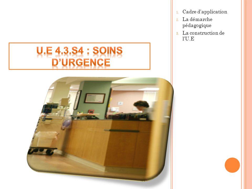 U.E 4.3.S4 : Soins d'Urgence Cadre d'application