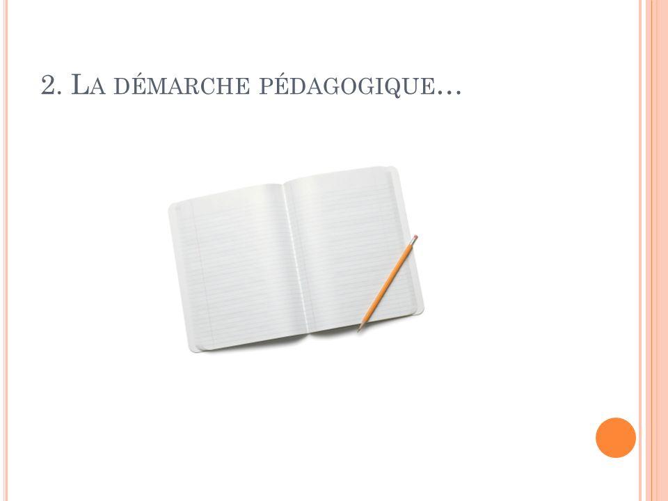 2. La démarche pédagogique…