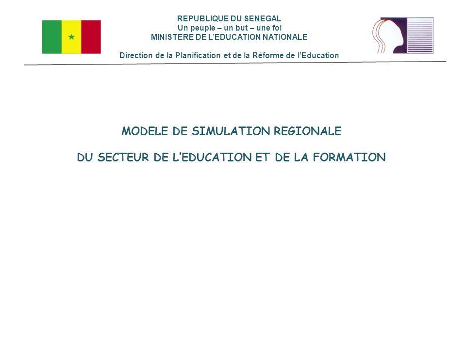 MODELE DE SIMULATION REGIONALE