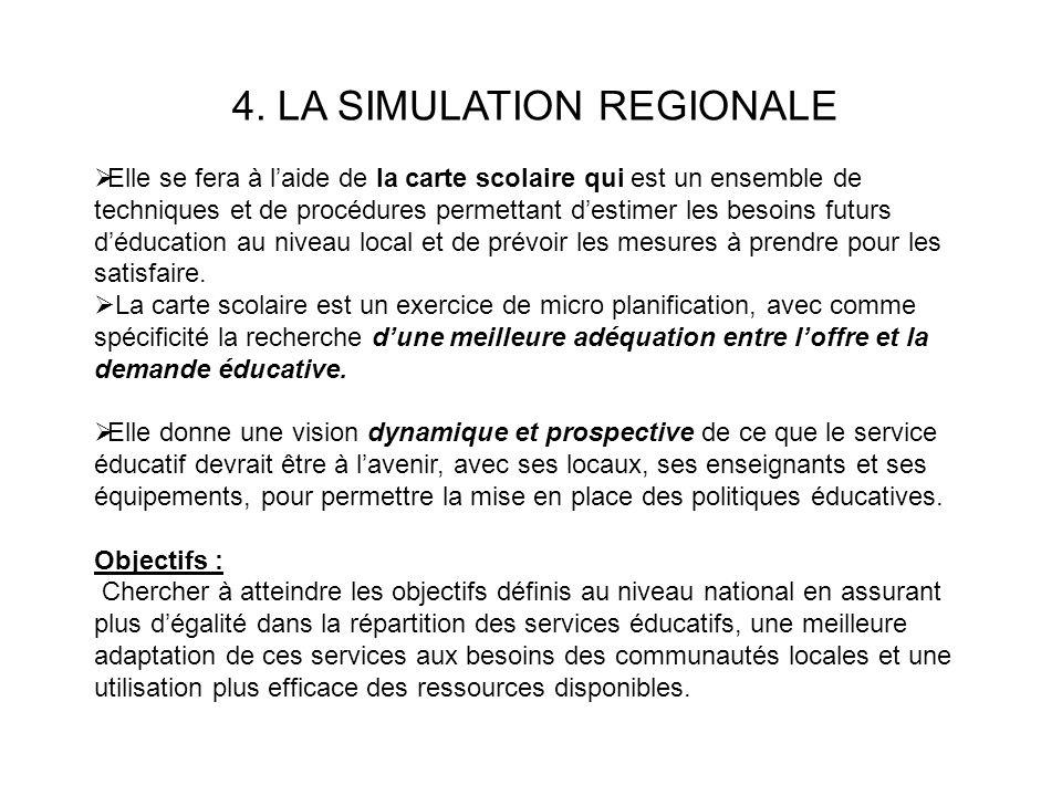 4. LA SIMULATION REGIONALE