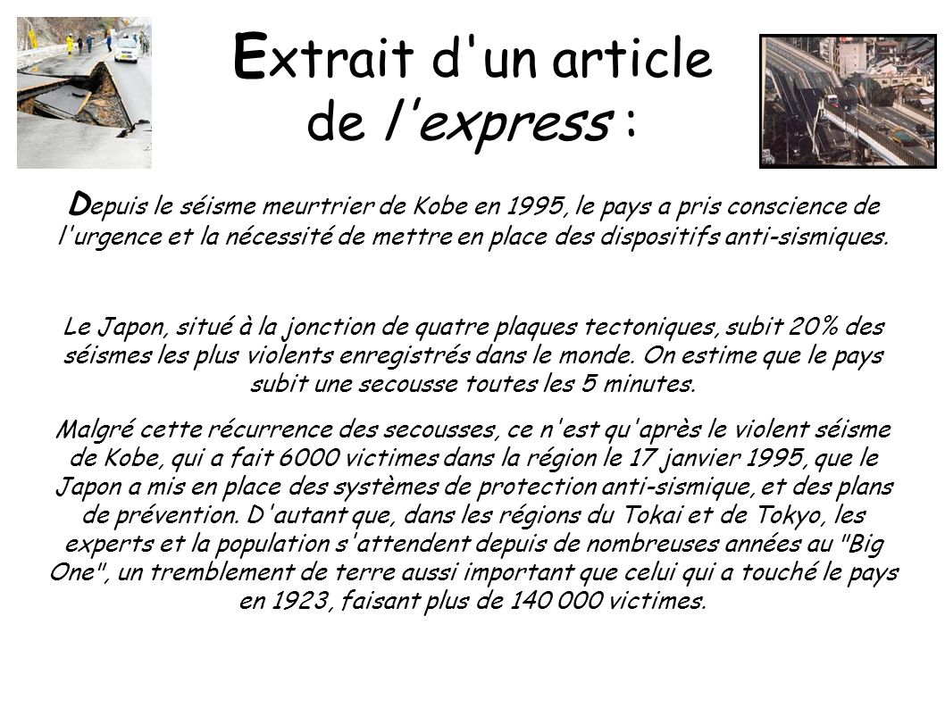 Extrait d un article de l express :